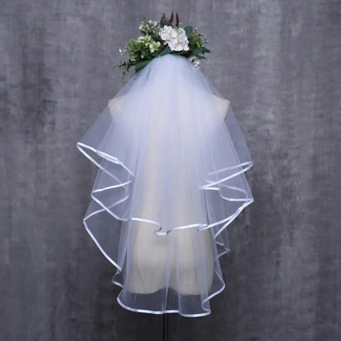 Wedding Dress Veil Two Layers - PrintiLya