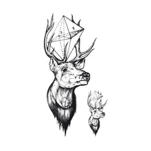 Load image into Gallery viewer, 2019 NEW Hot Design Temporary Tattoo for Adult Waterproof Tatoo Sticker Body Art Geometry Deer A-094 Fake Tattoo Man Woman - PrintiLya