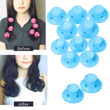 Load image into Gallery viewer, 10pcs/set Soft Rubber Magic Hair Care Rollers Silicone Hair Curler No Heat Hair Styling Tool - PrintiLya