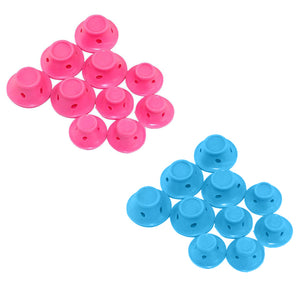 10pcs/set Soft Rubber Magic Hair Care Rollers Silicone Hair Curler No Heat Hair Styling Tool - PrintiLya