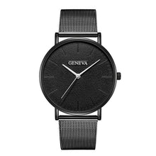 Load image into Gallery viewer, Simple Women Men Watches Top Brand Luxury Stainless Steel Mesh Quartz Wristwatches Fashion Clock ladies - PrintiLya