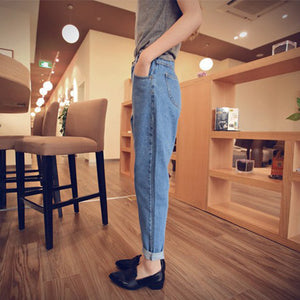 Women New Denim Vintage Pockets Casual Zipper Loose All-match Jeans Womens Washed High Waist Trendy Korean Style Soft Trousers - PrintiLya