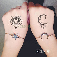 Load image into Gallery viewer, Waterproof Temporary Tattoo Stickers Moon Hill forest star Fake Tatto Flash Tatoo Tatouage Body Art Hand Foot for Girl Women Men - PrintiLya