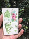 Waterproof Temporary Tattoo Sticker sexy baby's breath flower  tattoo flower birds gun feather Water Transfer fake flash tattoo - PrintiLya