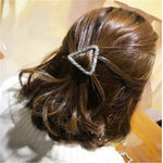 1 Pcs Fashion Crystal Rhinestones Hairpin Star Triangle Round Shape Women Hair Clips Barrettes Hair Styling Accessories - PrintiLya