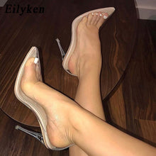 Load image into Gallery viewer, Eilyken Clear PVC Transparent Pumps Sandals Perspex Heel Stilettos High Heels Point Toes Womens Party Shoes Nightclub Pump 35-42 - PrintiLya
