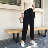 Jeans Women Elastic High Waist Big Pockets Loose Casual Womens Wide Leg Trousers Students Denim Fashion New Style All-match Chic - PrintiLya