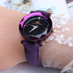 Exquisite Ladies Watch Starry Sky Female Leather Quartz Wrist Watch Elegant Women Watches Bracelet Watch - PrintiLya
