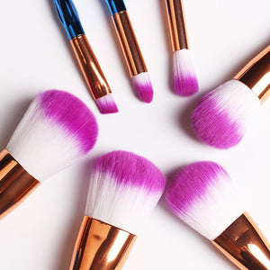 Mermaid Unicorn Screw Diamonds Gourd Makeup Brushes Sets 3D Colorful Brushes Foundation Blush Cosmetic Brush Set Kit Tools