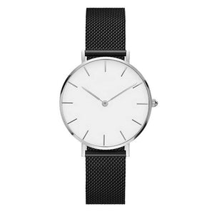 Fashion Big Brand Women Stainless Steel Strap Quartz Wrist Watch Luxury Simple Style Designed Watches Women's Clock - PrintiLya
