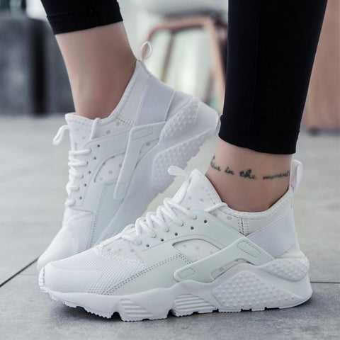 Fashion Casual Shoes Woman Breathable Sneakers Women Lace-Up Zapatos de mujer zapatillas Female Platform Shoes - PrintiLya