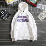 Hoodies Women Simple Harajuku Letter Print Hooded Trendy Plus Velvet All-match New Sweatshirt Female Korean Long Sleeve Pocket - PrintiLya