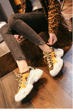 2019 new leopard mixed colors plush Fashion high quality women sneakers winter tenis - PrintiLya
