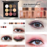 TUTU New Peach Matte Eyeshadow Palette Pigment Eye Shadow Korean Cosmetics Makeup 9 Colors Nude Glitter Shadows Pallete Make Up