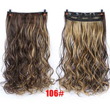 70cm 5 Clip In Hair Extension Heat Resistant Fake Hairpieces Long Wavy Hairstyles Synthetic Clip In On Hair Extensions - PrintiLya