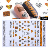 1pcs Nail Leopard Snake Print Sticker for Nail Decorations Manicure Adhesive Tips 3D Sexy Polish Wraps Accessory - PrintiLya