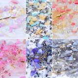 Mixed Glitter Nail Art Decorations Mini Bead Zircon Box 3D Manicure Metal Accessory Shell Stone Strass Jewelry for Tips - PrintiLya