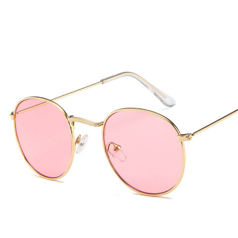 2019 Vintage Oval Small Metal Frame Sunglasses Men Women Brand Designer Sun Glasses Female Eyewear Oculos De Sol - PrintiLya