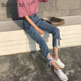 Jeans Women Holes Hip Hop Leisure Pockets Trousers Womens Straight Loose Trendy Pants Students Korean Daily High Quality Chic - PrintiLya