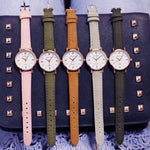 2019 Luxury Brand Women's Watch Simple Style Leather Band Quartz Watch Fashion Wristwatch Ladies Watches - PrintiLya