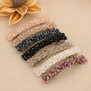 1PC 7 Colors Fashion Women Girls Bling Crystal Hairpins Headwear Rhinestone Hair Clips Pins Barrette Styling Tools Accessories - PrintiLya