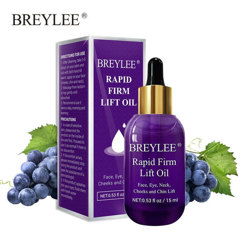 BREYLEE Essential Oils Rapid Firming Lifting Face Essence Oil Massage Anti Wrinkle Anti-Aging Powerful V Shape Facial Skin Care - PrintiLya