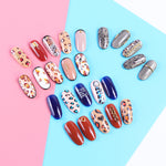 1PC Leopard Nail Stickers 3d Adhesive Sticker Decals Wild Sexy Design Charming Nail Art Decoration Transfer Foil Tip - PrintiLya