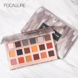FOCALLURE 18 Colors All Mate Eye Shadow Highly Pigment Cream Eyeshadow Palette Easy to Blend Makeup Shadow Earth Color Comestic - PrintiLya