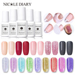 NICOLE DIARY 10ml Dip Powder Gradient French Glitter Without Lamp Cure Base Top Activator Polish Liquid Set Manicure Decoration - PrintiLya