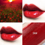 1Pc Hot  Lips Makeup 6 Colors Liquid Lipstick Mirror Surface Lip Gloss Tint Lasting Moisturizing Non-stick Cup Lip Glaze TSLM2