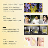 24K Eye Masks Gold Collagen Remove Dark Circles Eye Patches Anti-Wrinkle Remove Mask Eyes Care Products 60Pcs - PrintiLya