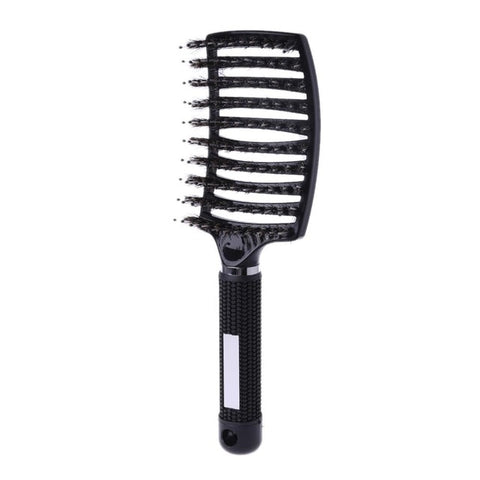 Salon Professional Bristle & Nylon Hairbrush Hair Combs Scalp Massage Comb Wet Hair Brush 4 Colors - PrintiLya