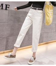 Load image into Gallery viewer, 2019 Spring Clothes Ladies High Waist Female Boyfriend Jeans with a tight waistl Denim Ripped Jean Woman - PrintiLya