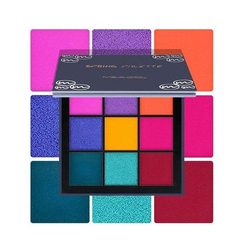 9 Full Colors Shimmer Matte Eye Shadow Palette Pigment Glitter Eyeshadow Palettes Nude Shadows Cosmetics Korean Makeup Eyes