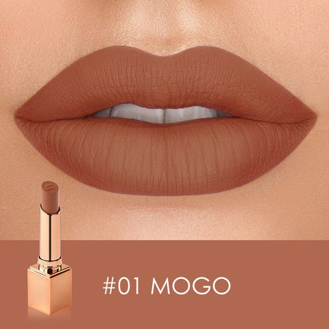 STAGENIUS Matte Lipstick Matte Velvet Lip Stick 12 Colors Sexy Nude Color Long-lasting Waterproof Lip Makeup - PrintiLya