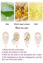 Load image into Gallery viewer, RtopR New Gold Remove Blackhead Mask Face Pore Peeling Acne Treatment Nose Deep Cleansing Face Whitening Hydrating  Golden mud - PrintiLya