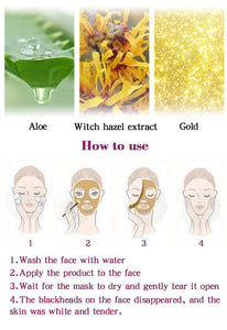RtopR New Gold Remove Blackhead Mask Face Pore Peeling Acne Treatment Nose Deep Cleansing Face Whitening Hydrating  Golden mud - PrintiLya