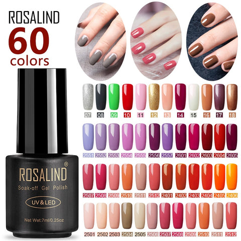 ROSALIND Nail Polish For Gel Nails Extension Polish Soak off UV Semi Permanent LED  Manicure Hybrid Nail Polish Gel Varnishes - PrintiLya