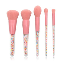 Load image into Gallery viewer, 5 Pcs Makeup Brushes Set Cosmetics Eyeshadow Make Up Brushes Colored Plastic Transparent Handle Makeup Brush Set maquiagem - PrintiLya