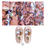 Full Beauty 1pc Shell Abalone Nail Art Sticker Gradient Mermaid Flakes Nail Foil Seaside Design Stickers Decals Adhesive - PrintiLya