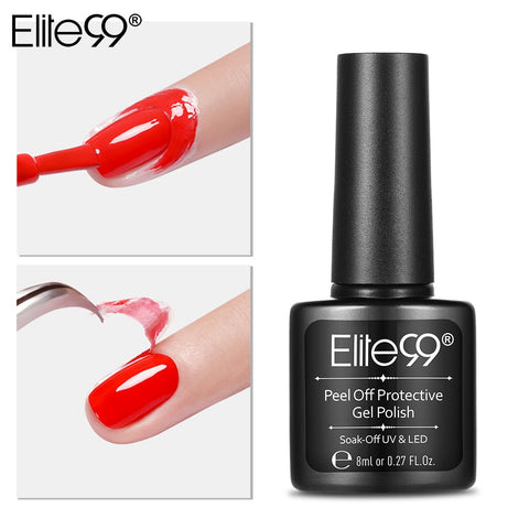 Elite99 8ML Nail Latex Peel Off Tape Paint Gellak Stamping Enamel Soak Off Protective Nail Polish Cuticle Guard Nail Care Tool - PrintiLya