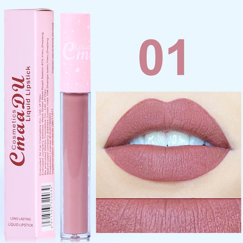 New CmaaDu 6 Color Natural Moisturizing Lipstick Matte Pink Tube Non-stick Cup Long lasting Lip Gloss High Quality lip tint - PrintiLya