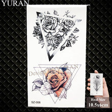 Load image into Gallery viewer, Watercolor Paper Plane Temporary Tattoo Stickers Women Body Art Arm Reed Branch Fake Tatoos Geometry Flower Lavender Tattoo Girl - PrintiLya