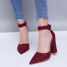 Load image into Gallery viewer, Women Pumps Sexy High Heels Shoes ladies Lace Up Point Toe Party Wedding Pump Black Woman shoes 35-43 - PrintiLya