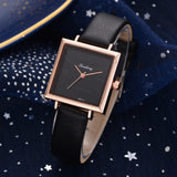 Top Brand Women Bracelet Square Watch Contracted Leather Crystal Wristwatches Women Dress Ladies Quartz - PrintiLya