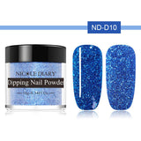 NICOLE DIARY 10ml Holographic Nail Dip Powder Dipping System Powder Glitter Laser Colorful Shiny Manicure Nail Art Design - PrintiLya