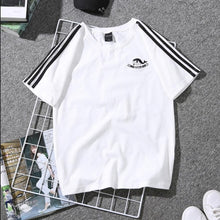 Load image into Gallery viewer, Women Short Sleeve t shirt Print Couple Tees harajuku Students  Plus Size Graphic Striped T-shirt 2019 - PrintiLya