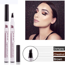 Load image into Gallery viewer, Makeup Eyebrow Pencil Waterproof Fork Tip Eyebrow Tattoo Pen 4 Head Fine Sketch Liquid Eyebrow Enhancer Dye Tint Pen - PrintiLya