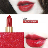 Glitter Lipstick Metallic Waterproof Long Lasting Glazed Lipstick Red Shimmer Lipstick Lips Lip Gross
