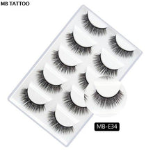 Load image into Gallery viewer, MB 2019 New 5 Pairs 3D Mink Lashes Cruelty Free Eye Lashes 5D Handmade Reusable Natural Mink Eyelashe Popular False Lashe Makeup